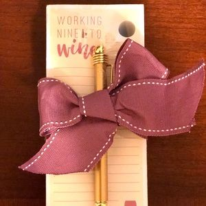 """NEW Notepad & Pen Set """"Working Nine to Wine"""""""
